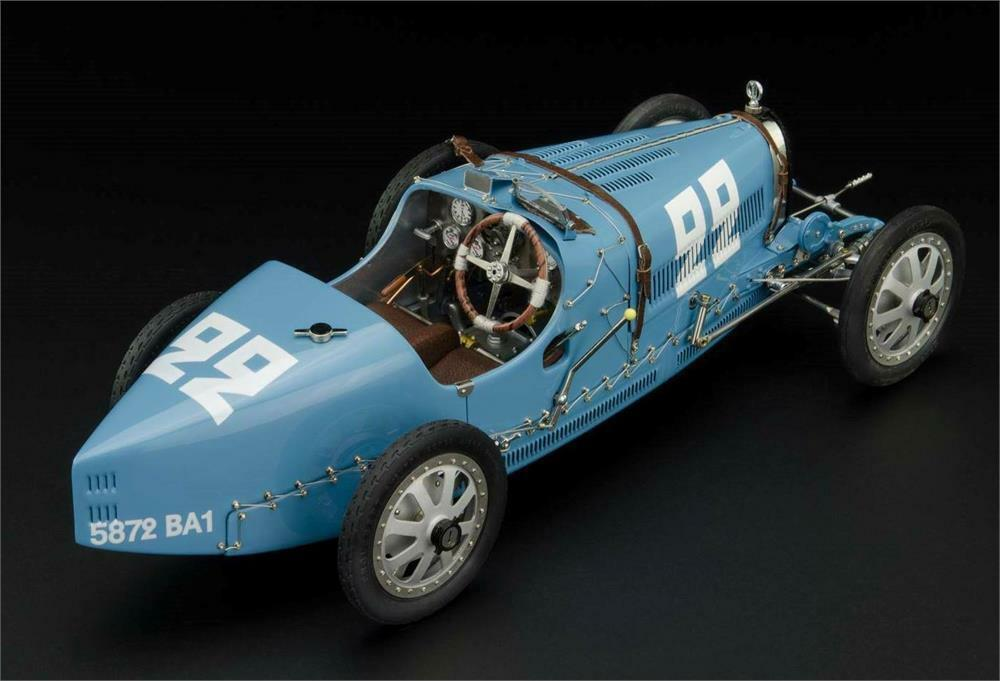 1924 Bugatti T35 France Diecast Model Car by CMC in 1 18 Scale