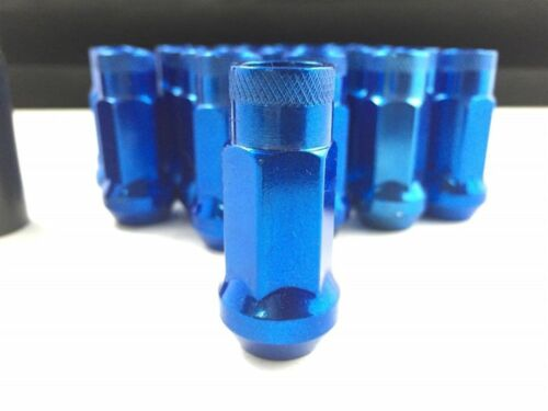 20 BLUE 48MM OPEN EXTENDED WHEEL LUG NUTS SET12X1.5 FITS CADILLAC GMC