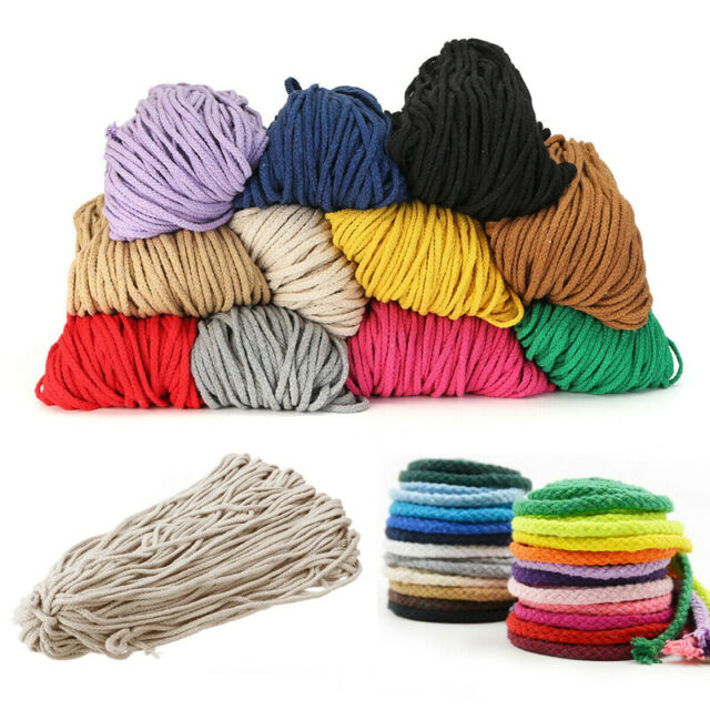 5mm Braided Cotton Cord Macrame. Rope