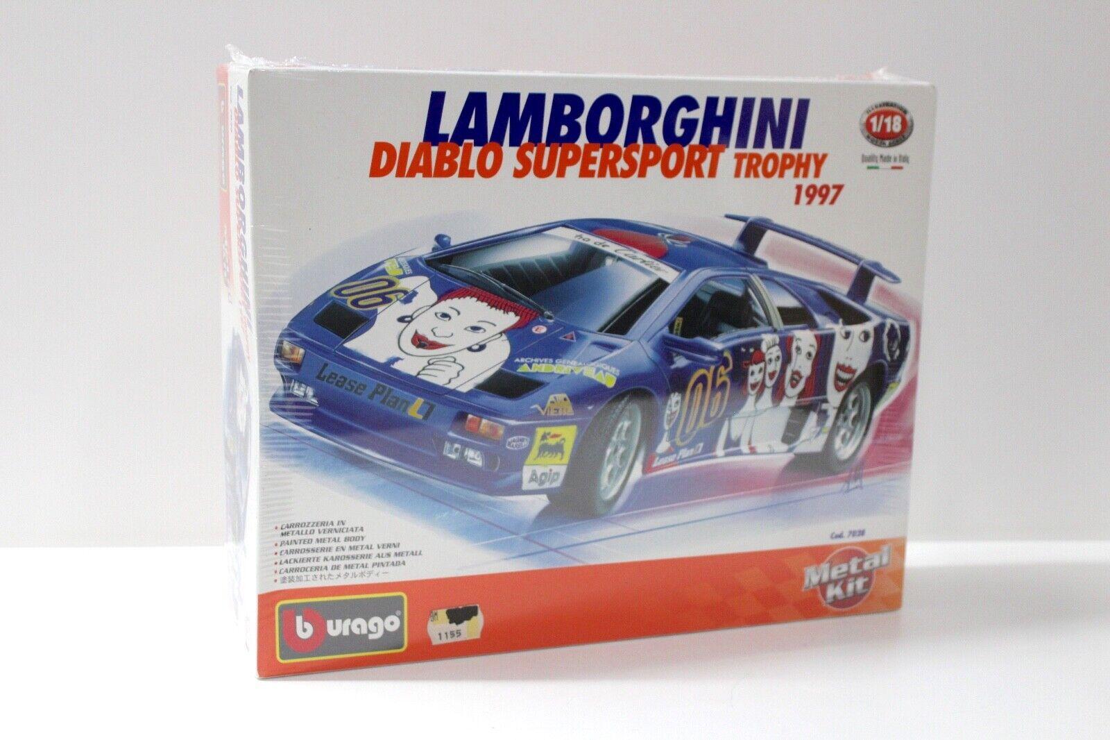 1 18 Bburago Lamborghini Diablo Supersport KIT BAUSATZ NEW bei PREMIUM-MODELCARS