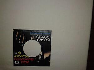 Giorgio Gaslini – Till Tomorrow  – Copertina Forata Per Disco Vinile 45 Giri
