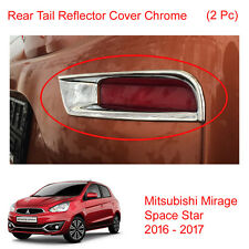 Rear Tail Reflector Cover Chrome 2 Pc Fit Mitsubishi Mirage Space Star 2016 - 17