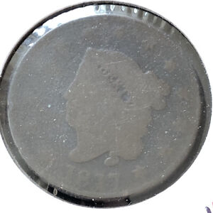 1817 Coroned Head Large Cent 1c Circulated  #2259