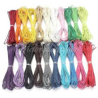 10M 1mm Waxed Wax Cotton Cord String Linen Thread Wire Jewelry Bracelet Making