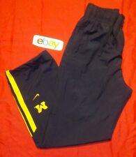 MENS sz L Nike navy blue 100% nylon athletic track pants w mesh sz Liner EUC !!!