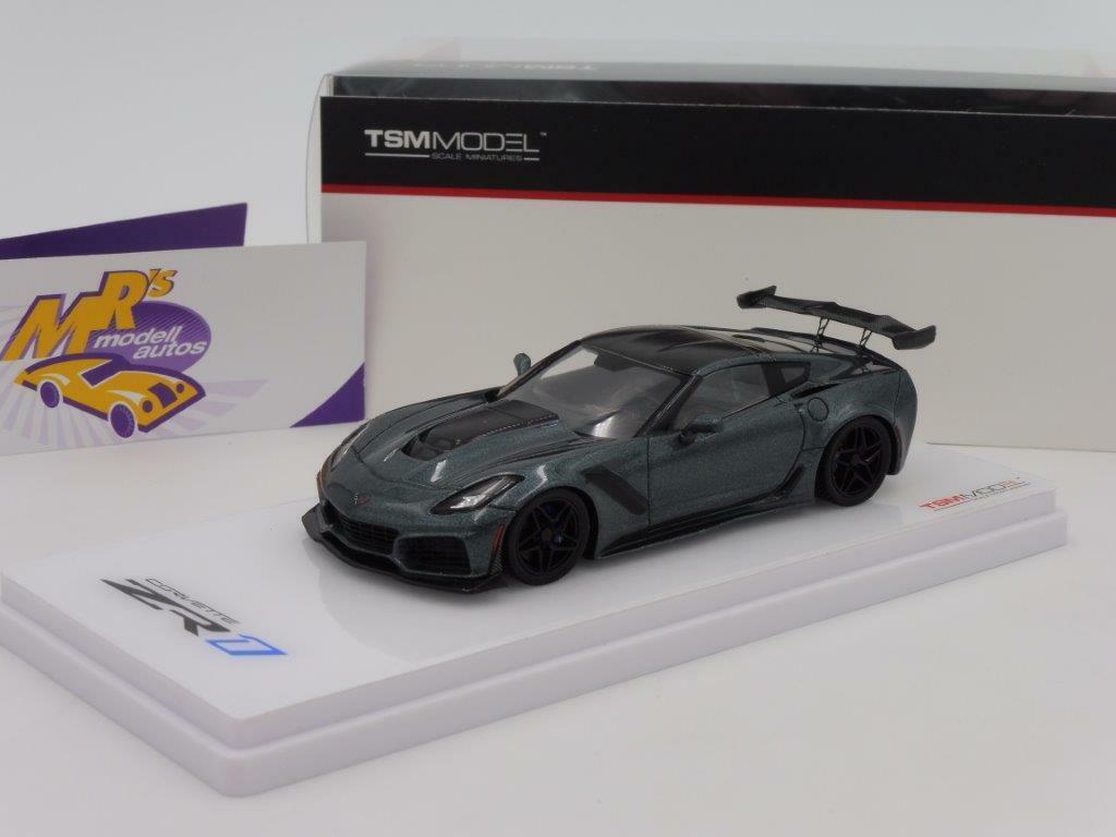 TSM 430336 - Chevrolet Corvette ZR1   dark shadow grismetallic   1 43 Neuheit