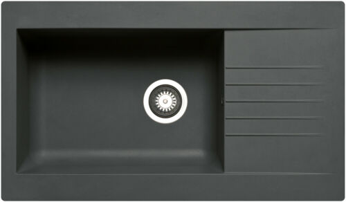 86x50 PYRAMIS Spüle SIROKO SMC-Spüle Fiberglasspüle // SCHWARZ aus Fibertek