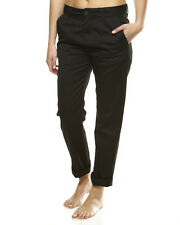 ELEMENT ELIA BLACK COTTON TURN UP CROPPED PANTS TROUSERS 27W REG BNWT RRP £65.00