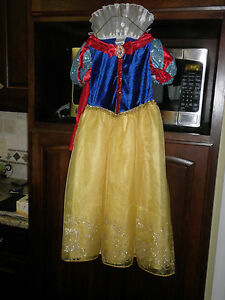 Details about Disney Store Girls Snow White Costume Dress Size medium 7/8  New med