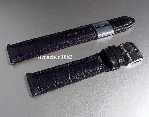 Lederband für Uhren Barington Kroko Print blau 12-24 mm Uhrenarmband