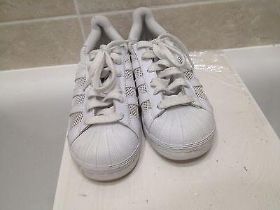 Adidas la marque aux 3 asturianos Blanco Zapatillas Size UK 5 Mujeres/Niños Mayores