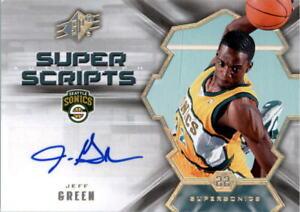 2007-08-SPx-Super-Scripts-JG-Jeff-Green-Auto-NM-MT