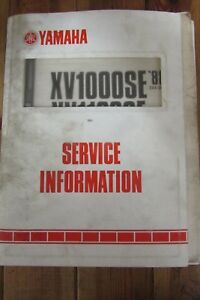 Details about 1988 1986 YAMAHA XV1000 XV1100 SERVICE INFORMATION + on