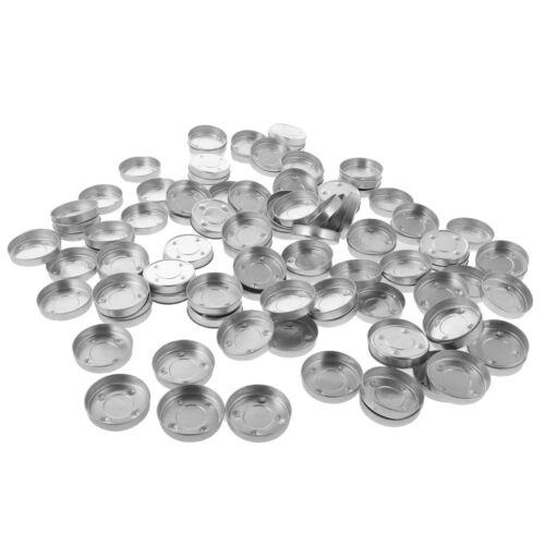 Luces de Té de Aluminio 100x Estuche Vacío Hágalo usted mismo Tazas de vela titular Contenedor De Molde #4