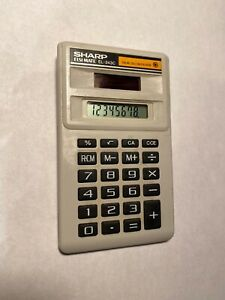 Vintage Sharp ELSI Mate EL-243C Solar Cell Powered Pocket Calculator