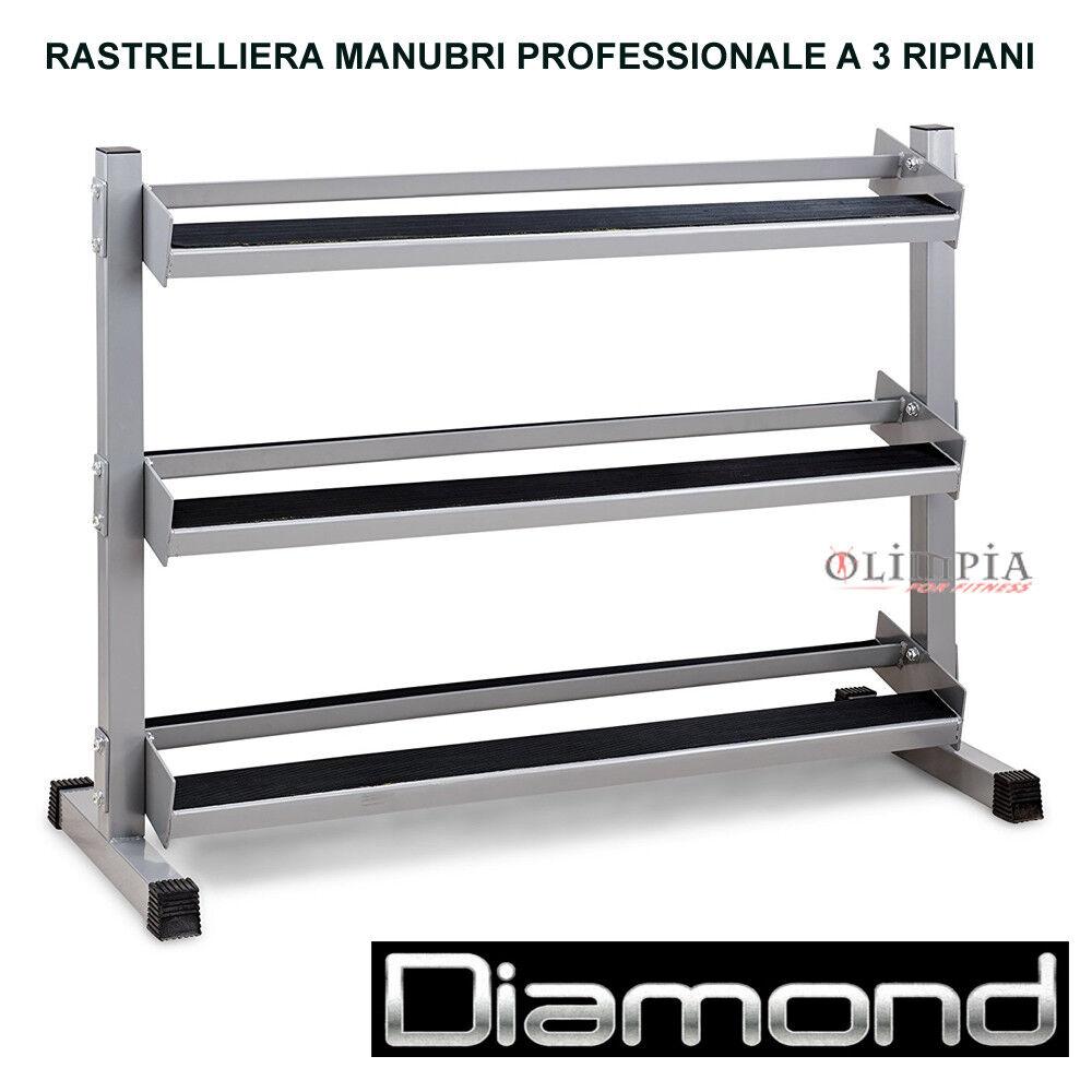 Diamond  RASTRELLIERA ESPOSITORE PORTA MANUBRI A 3 RIPIANI Linea Professionale