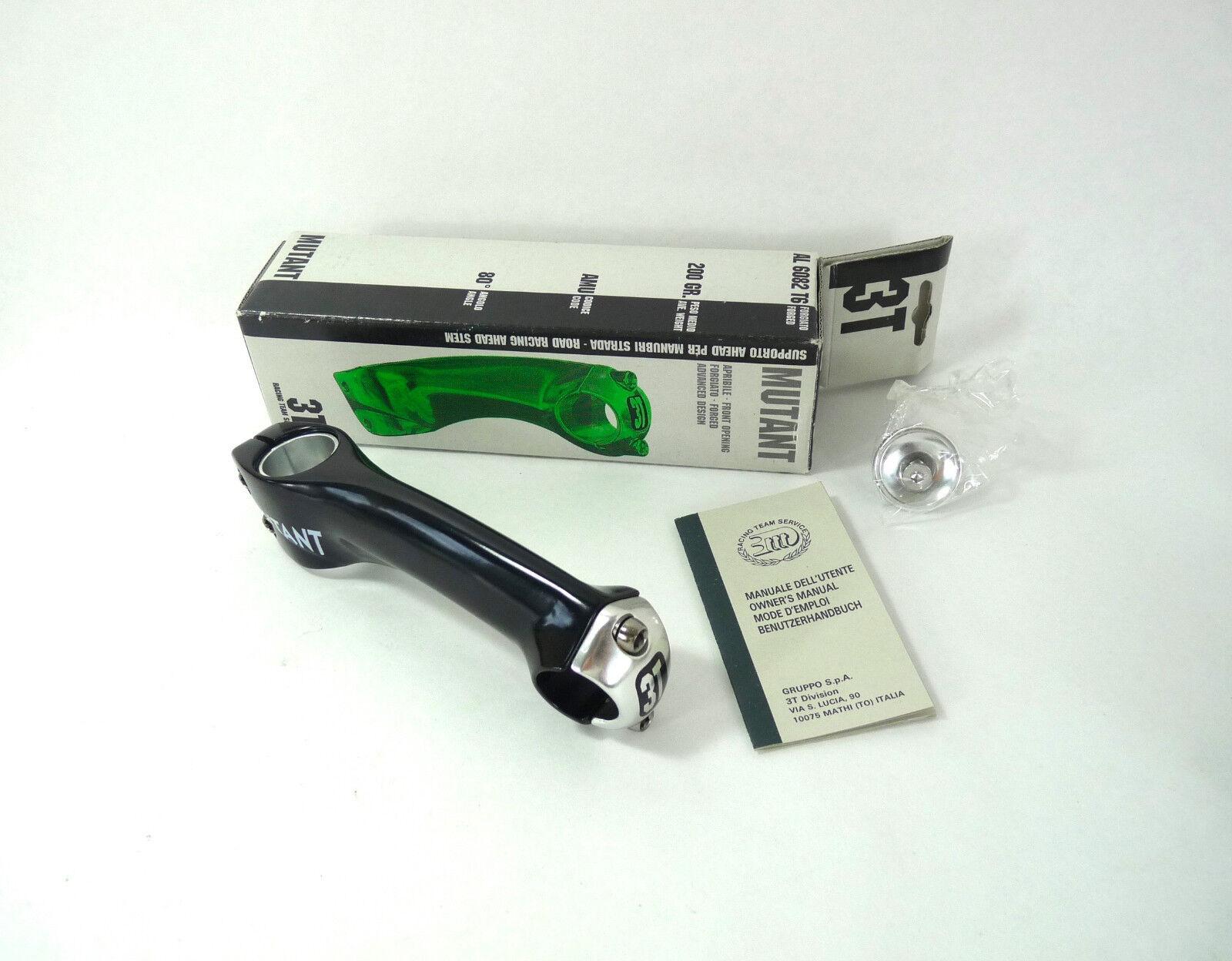 Mutante vástago 1  o 1-1 8  3T 130mm 3ttt Vintage Bike Threadless 26.0 negro nos