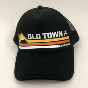 Brewery-Unisex-Trucker-Hat-Black-Old-Town-Brewing-Snapback-Mesh-One-Size