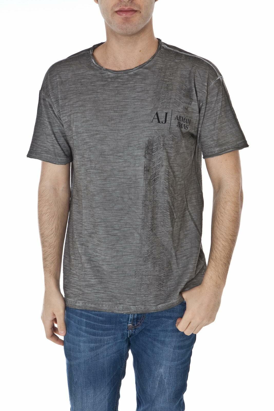 Armani Jeans AJ T Shirt Sweatshirt Cotton Man grau T6H14SL 92 Sz M MAKE OFFER