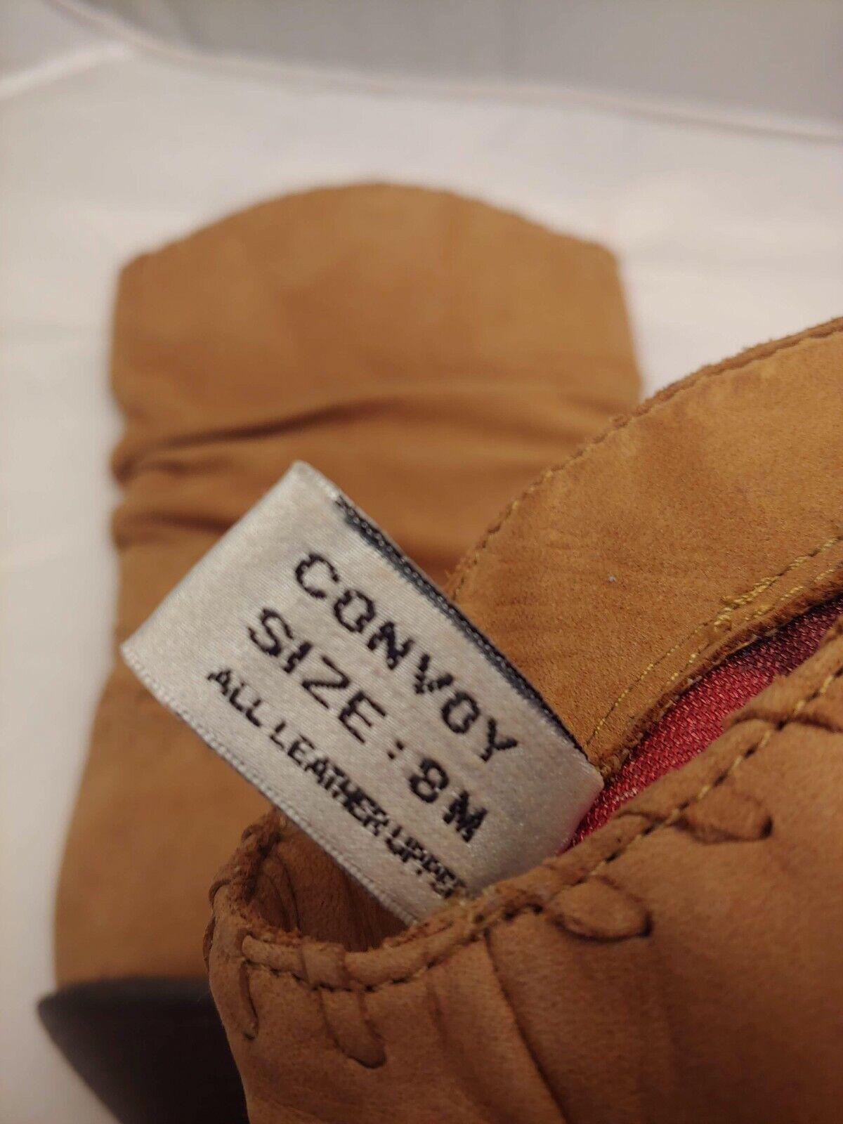 Zodiac Vintage stivali 8 8 8 M Leather Slouch Cowboy Western Tan Camel 1d99ea