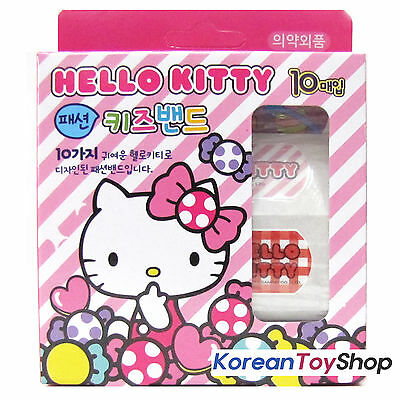 Hello Kitty Cute Band Aids Bandages Standard Type 1 Box X 10 pads, Made in Korea