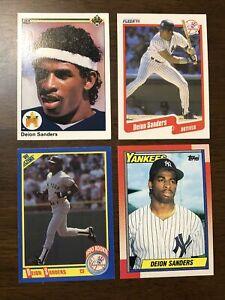DEION SANDERS RC 1990 Topps Upper Deck Score Fleer Rookie Card Lot NY Yankees