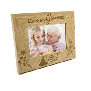 Details About Me And My Grandma Love You To The Moon Photo Frame Gift Fw150