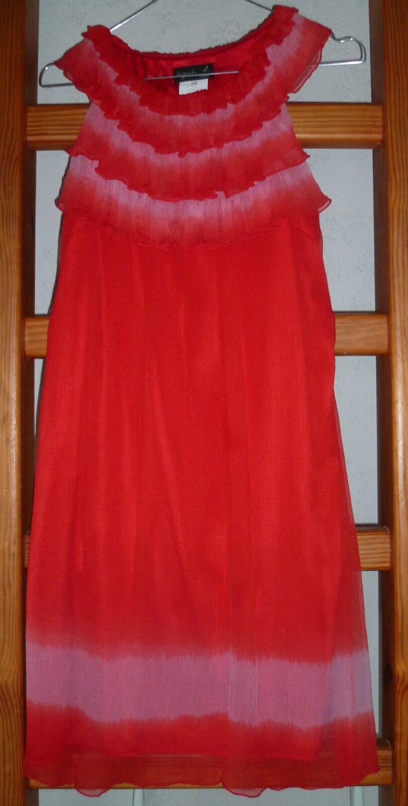 Superbe Robe rot Agnès B T 38 NEUVE avec étiquette