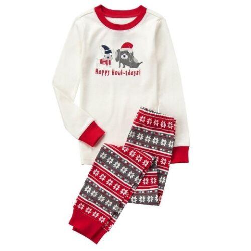 NWT Gymboree Holiday Puppy Dog Happy Howl-idays Gymmies Pajamas Sleep Set Boy 12