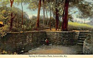 LOUISVILLE-KENTUCKY-SPRING-IN-CHEROKEE-PARK-F-M-KIRBY-1910s-POSTCARD