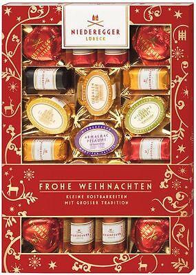(1000g=40,00€) Niederegger Marzipanerie Weihnachten  - Marzipan Pralinen - 270g