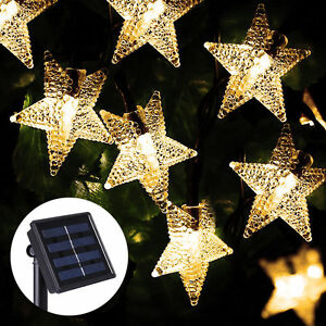 20-STAR-LED-5M-Solar-Outdoor-Fairy-Lights-Xmas-Garden-Wedding-Party-Waterproof