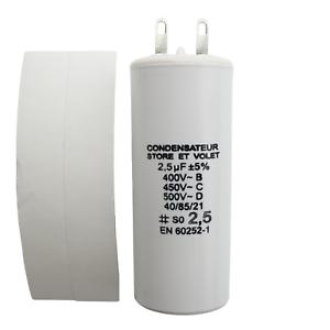Motor Capacitor 2.5 uf (µf) for Somfy or Simu motor of roller shutter or awning