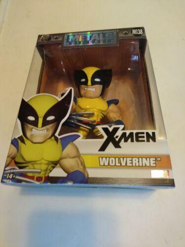 "4/"" Figure Sealed New X-Men Wolverine M140 Marvel Metals Die Cast Jada Metals"