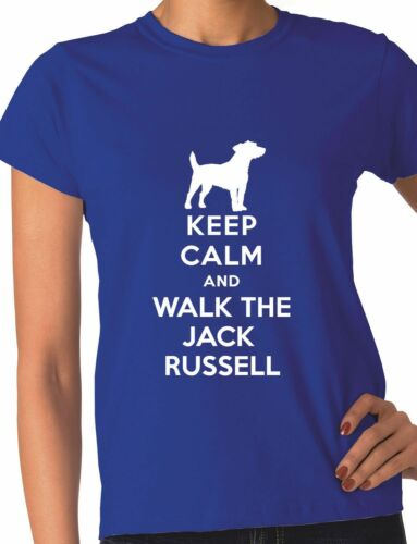 Keep Calm Walk The Jack Russell KC Dog Lovers Gift Ladies T Shirt Size S-XXL