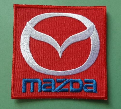 d MAZDA MOTOR RACING CAR SPEED FESTIVAL SEW ON IRON ON PATCH: RED BLOCK