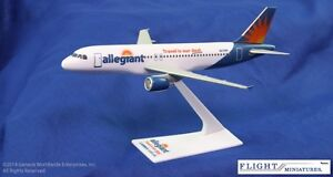 Flight-Miniatures-Allegiant-Air-A320-200-1-200-Scale-Plastic-Model-New-Livery