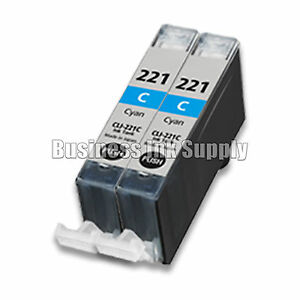 2-CYAN-CLI-221-Canon-CLI-221C-CLI-221-C-CLI-221-CLI221-Ink-Cartridge-NEW-CHIP