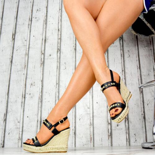 compensés Nouvelles pour compensées Sandales à à chaussures Parti Bretelles talons semelles femmes Rivets UPnUw1qZ