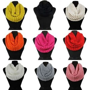 Women S Warm Winter Infinity Circle Cable Knitted Cowl Neck Scarf