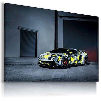 Antiquitaten Kunst Kunstdrucke Lamborghini Aventador Gray Cars Large Wall Art Canvas Picture Au491 X Mataga