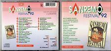 SANREMO 92 CD RICCARDO FOGLI MATIA BAZAR TOSCA SCIALPI STATUTO JO SQUILLO RICCHI