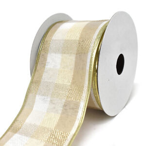 10-Yard 1-1//2-Inch Two Toned Shiny Satin Wired Ribbon