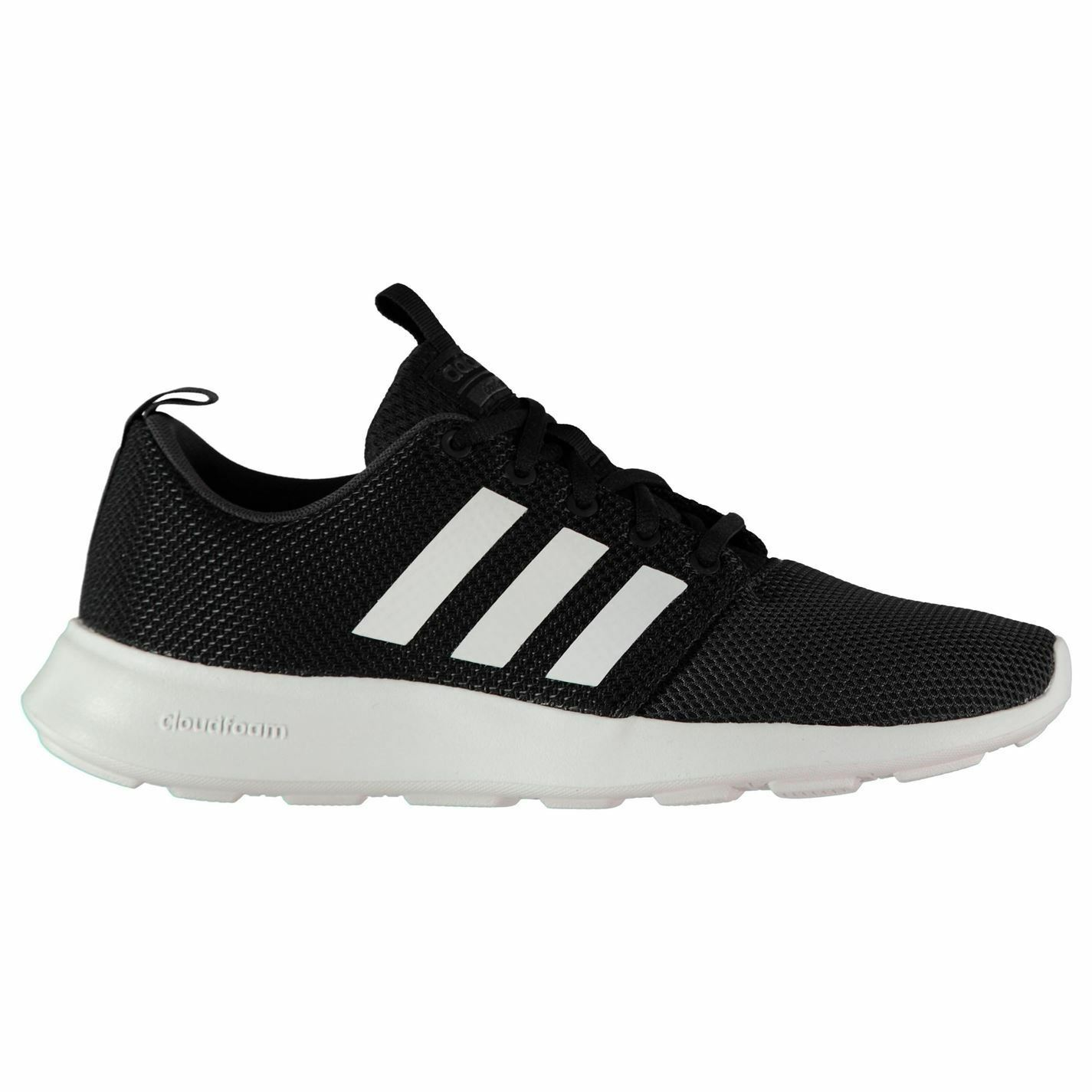 Adidas Cloudfoam Swift Trainers Mens Black White Sports shoes Sneakers