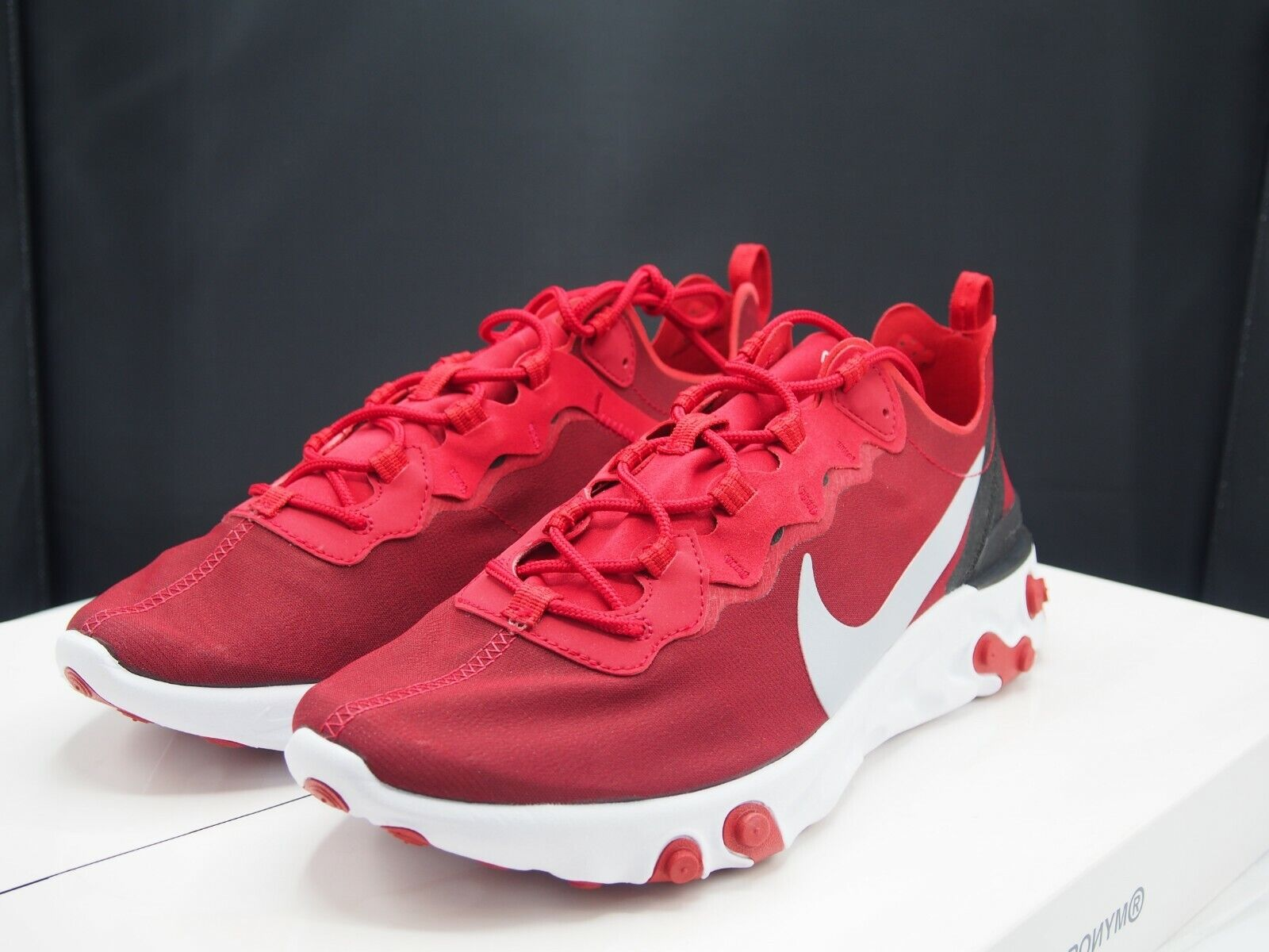 Nike React Element 55 Gym Red BQ6166-601 Men's size 11 11 11 US 564d08