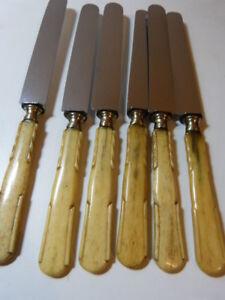 6 Couteaux Rénovés Avec Manches En Os (cp10) Nzyvr6ul-10132805-253515041