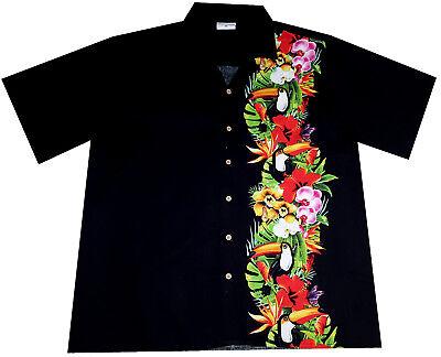 Indipendente Camicia Hawaiana / 100% Cotone / S - 6xl / Hawaiiana Hawaii Uccelli Tropicali