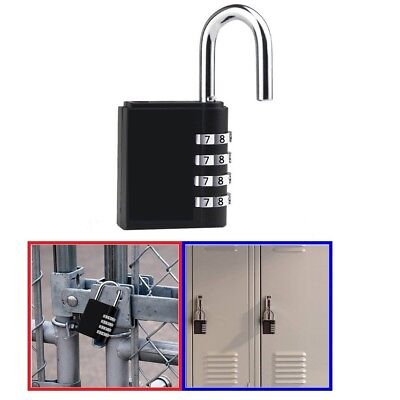 Combination Lock 10 Digit Padlock for School Gym Locker,Luggage Sports
