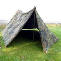 German Army Flecktarn 2 Man Reversible Pup Tent