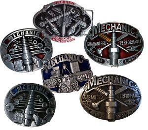 Mecanique-Mecanicien-Boucle-de-Ceinture-Atelier-Voiture-Hot-Rod-Bougie-Motard
